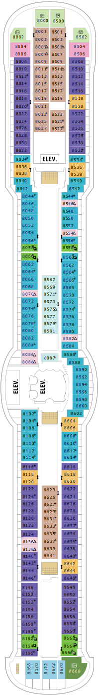 Brilliance Of The Seas Deck Eight Deck Plan