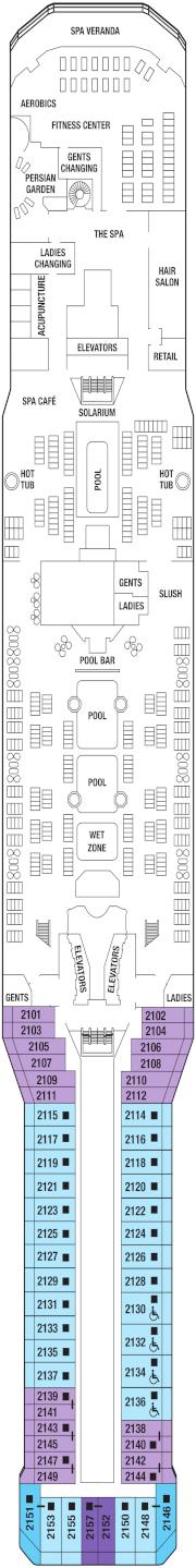 Celebrity Eclipse Deck 12 Deck Plan