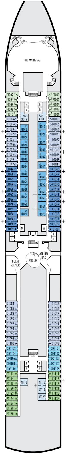 Nieuw Amsterdam Main Deck Deck Plan