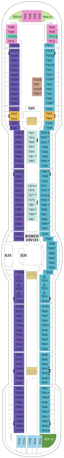 Radiance Of The Seas Deck Seven Deck Plan