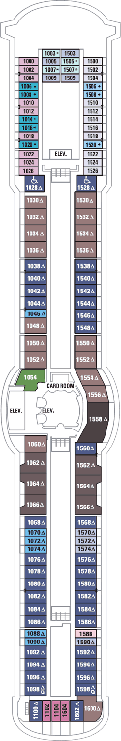 Radiance Of The Seas Deck Ten Deck Plan