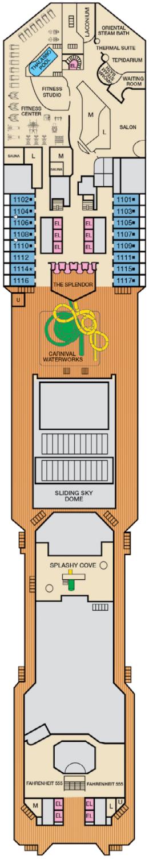 Carnival Splendor Spa Deck Deck Plan