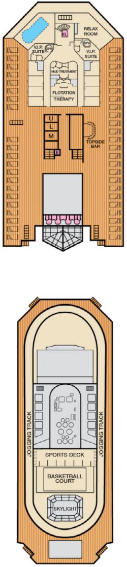 Carnival Splendor Sun Deck Deck Plan