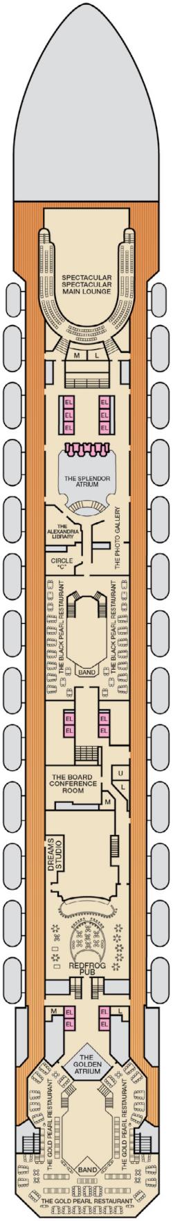 Carnival Splendor Atlantic Deck Deck Plan