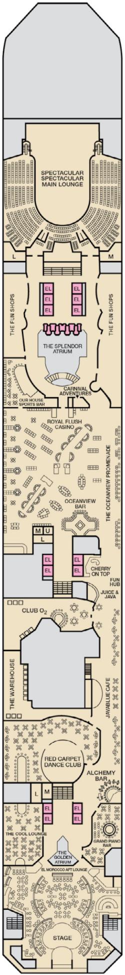 Carnival Splendor Promenade Deck Deck Plan