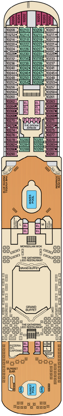 Carnival Dream Lido Deck Deck Plan