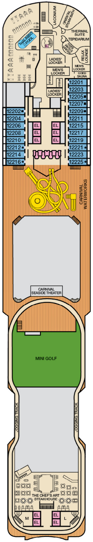 Carnival Dream Spa Deck Deck Plan