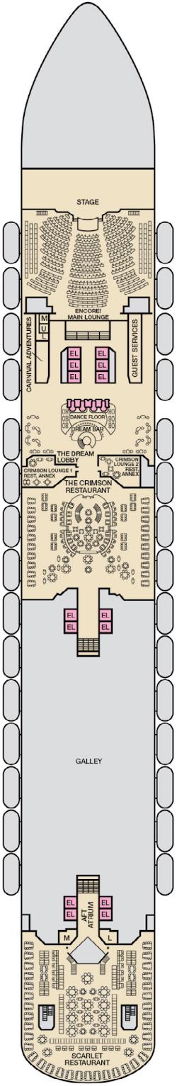 Carnival Dream Lobby Deck Deck Plan