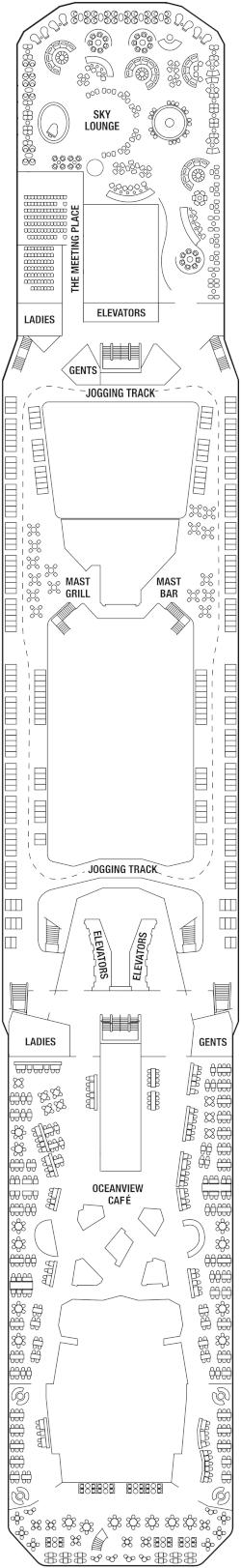 Celebrity Silhouette Deck 14 Deck Plan