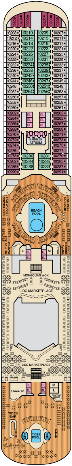 Carnival Breeze Lido Deck Plan