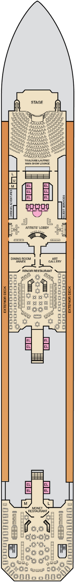 Carnival Conquest Lobby Deck Plan