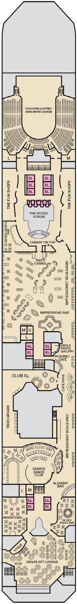 Carnival Conquest Promenade Deck Plan