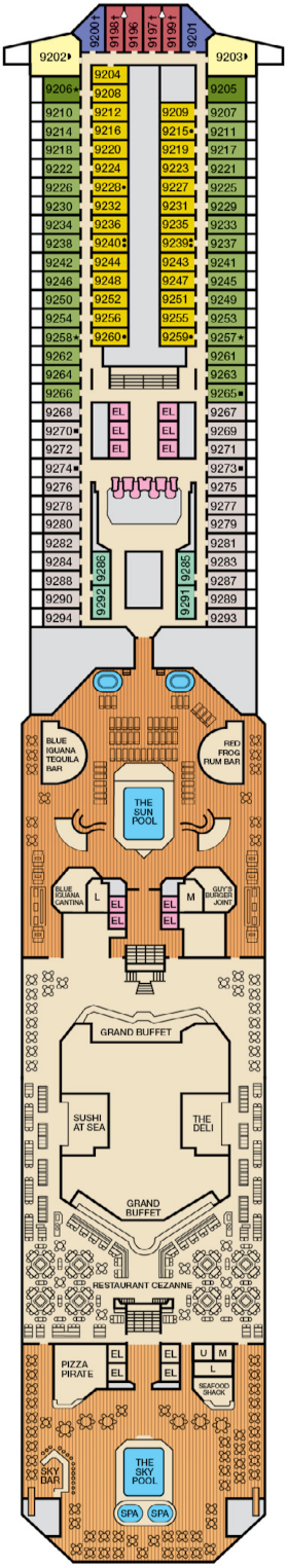 Carnival Conquest Lido Deck Plan