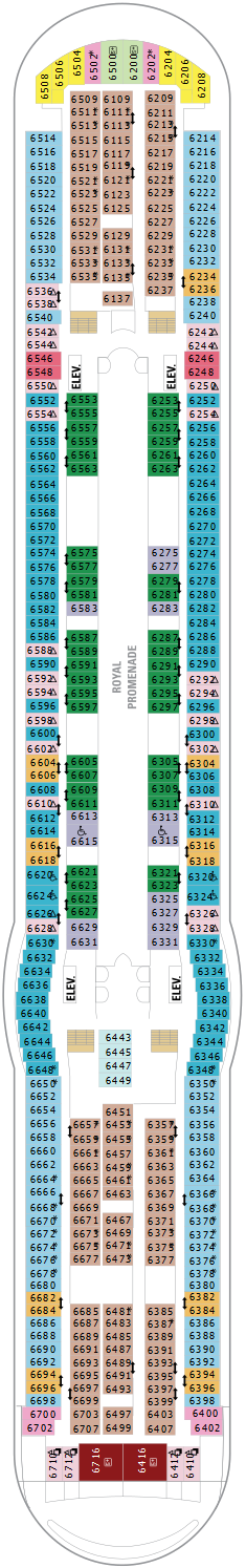 Independence Of The Seas Deck Six Deck Plan