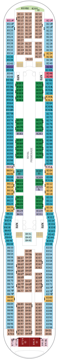 Independence Of The Seas Deck Eight Deck Plan
