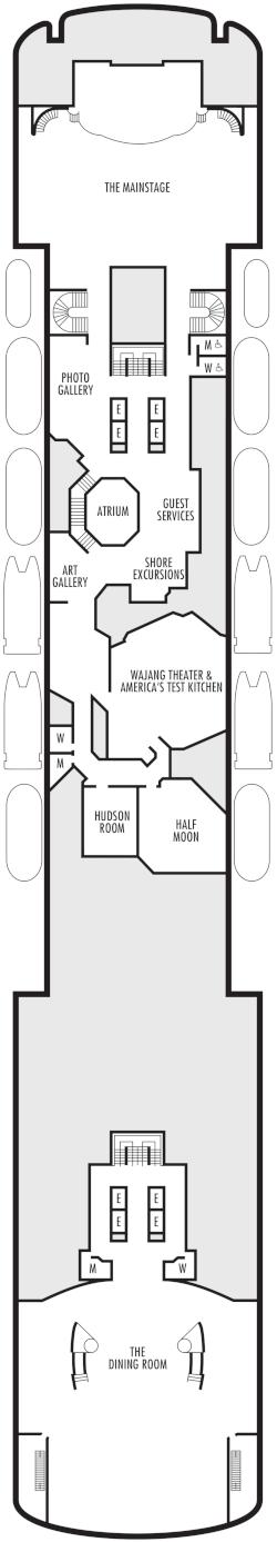 Veendam Promenade Deck Deck Plan