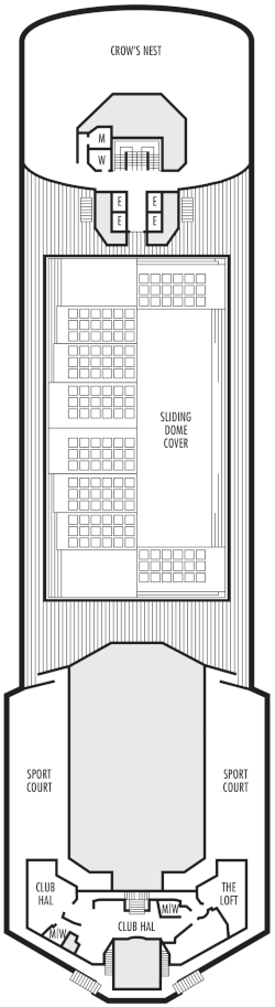 Veendam Sports Deck Deck Plan