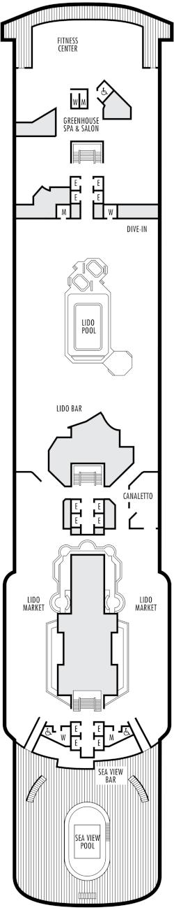 Zaandam Lido Deck Deck Plan
