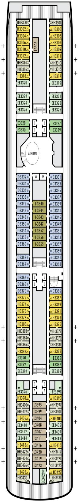 Zaandam Lower Promenade Deck Deck Plan
