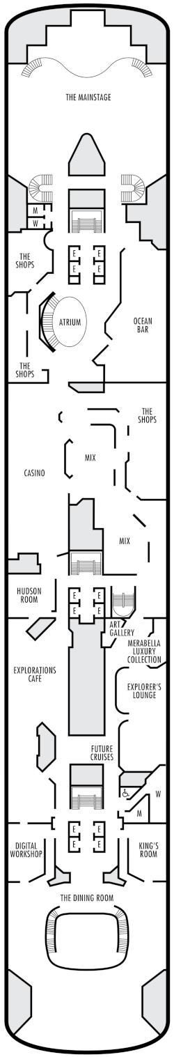 Zaandam Upper Promenade Deck Deck Plan