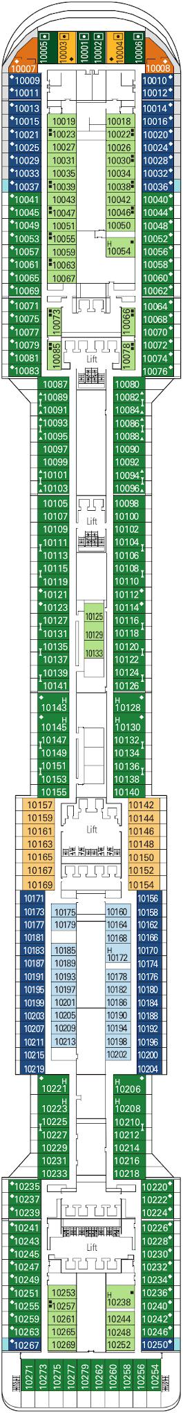 Msc Divina Giunone Deck Deck Plan
