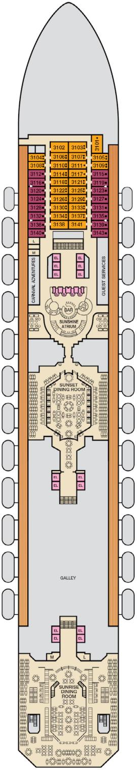 Carnival Sunshine Lobby Deck Deck Plan