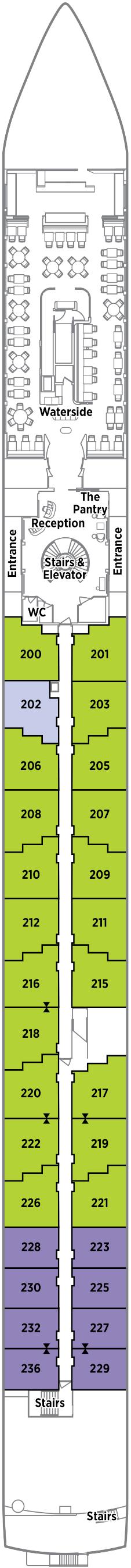 Crystal Debussy Seahorse Deck Deck Plan