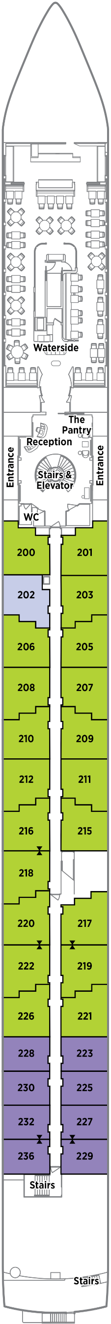 Crystal Ravel Seahorse Deck Deck Plan