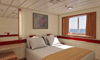 Carnival Ecstasy Oceanview Stateroom