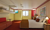Carnival Splendor Oceanview Stateroom